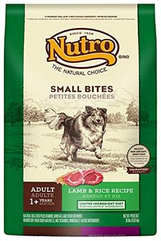 CLICK PICTURE TO PURCHASE!! from http://planetdogz.net/product/the-nutro-company-adult-small-bites-limited-ingredient-diet-dog-food-with-lamb-and-whole-brown-rice-formula-30-pound/  The Nutro Company Adult Small Bites Limited Ingredient Diet Dog Food with Lamb and Whole Brown Rice Formula, 30-Pound