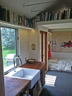 How to Avoid Having a Ladder in Your Tiny House - A list of options with photos