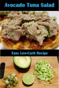 The ultimate mash-up - Avocado Tuna Salad! Creamy, tangy and an awesome weekday lunch sandwich topping! 268 Cal and 2 g net Carbs per recipe serving . Avocado Tuna Salad, Low Carb Recipes, Healthy Recipes, Sandwiches For Lunch, Lchf Diet, Health And Nutrition, Meal Planning, Meal Prep, Salads