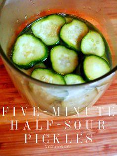 proportionally I did 12 pickles needs more salt
