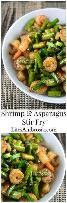 Welcoming asparagus season with this quick and easy Shrimp and Asparagus Stir Fry. A meal the whole family will love.