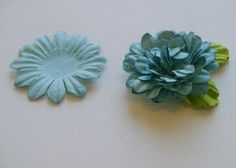 How to re-purpose paper flowers into 3D Flowers...so easy and fun.