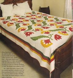 Princess Feather & Cockscomb challenging Quilt Pattern From Magazine •…
