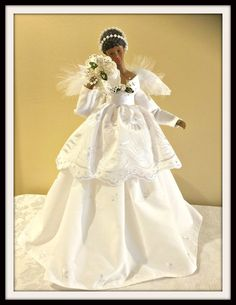 Christmas Angel Tree Topper Handcrafted African by DivineAngelShop
