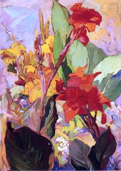 Canna Lillies by Franz Bischoff   http://www.artoyster.com/franz-bischoff-paintings_canna-lillies_fl29773.html  floral art  #oilpaintingsforsale #oilpaintings #paintingsforsale #paintings  #floralart