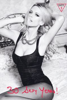 Claudia Schiffer giving us that old-school glam in a Guess campaign.