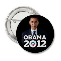 Obama 2012 Logo Pin
