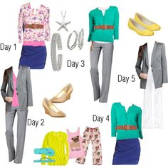 Packing list - 5 days, 8 pieces, several more outfits can come out of these! www.rivercityfashion.com