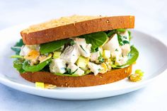 Say hello to your new favorite recipe for chicken salad. It combines perfectly tender chicken, crunch from veggies and nuts, a little sweetness, and the easiest creamy dressing. Chicken Salad Recipes, Pasta Recipes, Soup Recipes, Healthy Recipes, Salad Chicken, Turkey Recipes, Healthy Cooking, Recipies, Nutrition