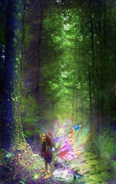 In the Magic Forest ~ Beautiful art! artist unknown In the Magic Forest ~ Beautiful art! Fairy Dust, Fairy Land, Fairy Tales, Fantasy World, Fantasy Art, Fantasy Fairies, Elfen Fantasy, Magic Forest, Forest Fairy