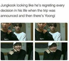 It's like jungkook can't believe that's it's true and then yoongi just turned into an adorable little cupcake