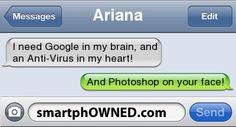 .lol hahaha! That's funny!  One stop photo shop! Haha!