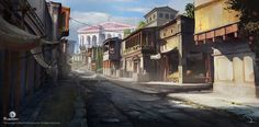 View an image titled 'Alexandria City Street Art' in our Assassin's Creed Origins art gallery featuring official character designs, concept art, and promo pictures. Alexandria City, Library Of Alexandria, Concept Art World, Game Concept Art, Ancient Egypt Pharaohs, Assassins Creed Origins, City Drawing, Minecraft Architecture, Ancient Architecture