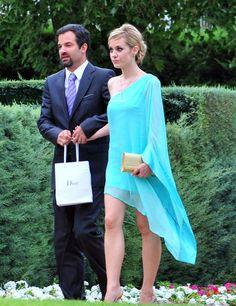 Alexandra Jimenez's blue guest dress