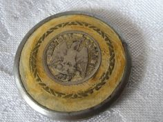 Large VINTAGE Mexican Coin in Metal BUTTON by abandc on Etsy