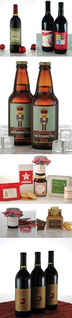 Custom Holiday Wine bottle labels