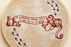 Vintage Embroidery Designs Marauder's Map Embroidery Pattern - These ten hand embroidery patterns represent a variety of fandoms and are sure to bring out the geek in you! Embroidery Designs, Hand Embroidery Stitches, Crewel Embroidery, Vintage Embroidery, Cross Stitch Embroidery, Cross Stitch Patterns, Machine Embroidery, Embroidery Digitizing, Embroidery Supplies
