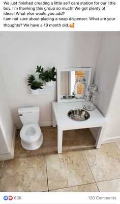 montessori toddler bathroom and wash station