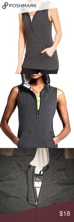 Nike Women's Dri-fit half zip sleeveless hoodie Nike Women's Dri-fit half zip sleeveless hoodie. Pre-owned. Still in great condition. Still looks close to new. Nike Tops Sweatshirts & Hoodies