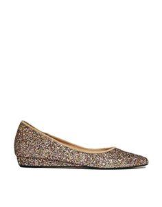 Image 1 ofGanni Nina Glitter Ballerina Flat Shoes