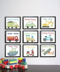 Easy Peasy to make. Scrapbook paper and frames. So adorable for a boys room, or nursery.