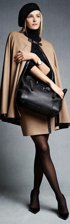Ralph Lauren Ruth Skirt Ralph Lauren Leather-Trim Dalphine Cape
