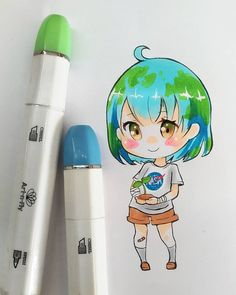 Small drawing of chibi Earth chan ....flat or not...? Ahaha anyways.. guys T_T im crying! THANK YOU so so much for 100k!!! I dont have words! im so thankful for all the support!! Ahhh seriously THANK YOU! Ps. expect some little surprise this weekend