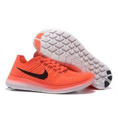 Mens Nike Free Flyknit 5.0 Orange Black Shoes