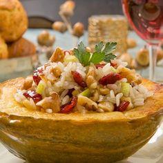 Acorn Squash Stuffed with Walnut-Apple Basmati Pilaf