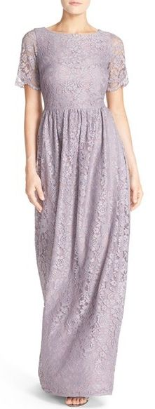 Main Image - Paper Crown by Lauren Conrad 'Shreveport' Short Sleeve Lace Gown Dress Skirt, Lace Dress, Dress Up, Dress Long, Beautiful Gowns, Beautiful Outfits, Pastel Bridesmaid Dresses, Floral Dresses, Just In Case