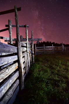 Walker Ranch Fence and the Milky Way         www.lohrphoto.com