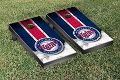 Victory Tailgate Salem Red Sox MiLB Regulation Cornhole Game Set Weathered Triangle Version