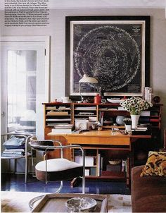Thomas O'Brien {eclectic vintage /art deco / mid-century study / living room}