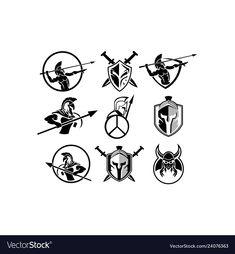 Spartan logo vector image on VectorStock Small Music Tattoos, Pop Art Tattoos, Mini Tattoos, Tattoos For Guys, Spartan Helmet Tattoo, Sparta Tattoo, Chevron Tattoo, Spartan Logo, Adobe Illustrator