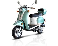 BMS Federal 50cc Scooter - Mint Green - QuiBids.com| this is exactly what I'm wanting!