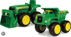 Britains John Deere grote Kiepwagen en Tractor