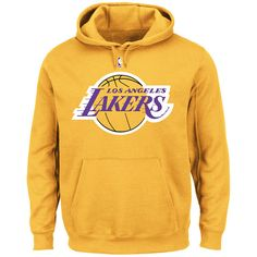 Los Angeles Lakers Majestic Big & Tall Primary Logo Pullover Hoodie - Gold - $64.99