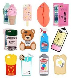 """""""Weird Phone Cases"""" by candyunicorn03 ❤ liked on Polyvore featuring beauty, Kate Spade, Tory Burch, STELLA McCARTNEY, ban.do, Moschino and Lolli Swim"""