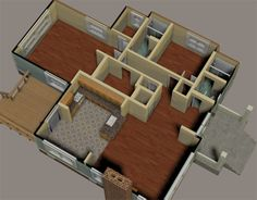 Download Available - The 3D complete bungalow house model for Poser and DAZ Studio has 34 door movements (entrance, interior room, kitchen cabinets and shower do...