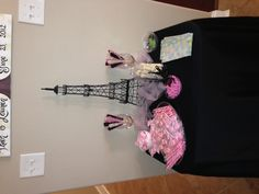 Pink and Black Paris baby shower theme