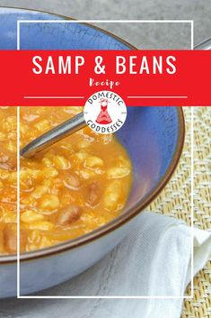 Looking for a recipe for samp and beans but with a twist? Add some secret ingredients to turn this traditional South African dish into the ultimate comfort food. My Favorite Food, Favorite Recipes, South African Dishes, Domestic Goddess, Goddesses, Cheeseburger Chowder, Macaroni And Cheese, Beans, Healthy Recipes