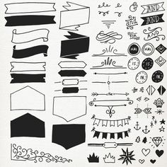 Typography Elements ClipArt Vectors // Photoshop by thePENandBRUSH