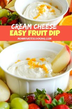 Make a super easy Cream Cheese Fruit Dip with this Quick and Easy Cream Cheese Fruit Dip recipe. This is perfect to serve with a nice fruit tray full of seasonal fruit! Best Gluten Free Desserts, Gluten Free Cupcakes, Foods With Gluten, Dip Recipes, Appetizer Recipes, Dessert Recipes, Fruit Recipes, Appetizers, Gluten Free Lasagna