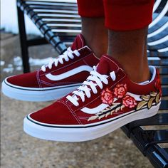 0b08a9d0947ad Shop Men s Vans Red size Various Sneakers at a discounted price at  Poshmark. Description  Brand new and Authentic Custom Vans. One of a kind  design.