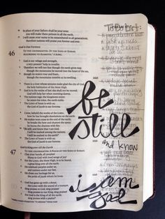 Psalm 46:10 - Be still **LOVE the To Do List** [credit to https://fromstatuslinestoessays.wordpress.com/2014/10/06/bible-journaling-to-know/]