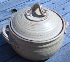 Large Pottery Casserole Dish in Yellow Salt for your by claycoyote, $75.00