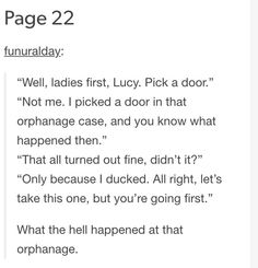 We all need to know what happened at the orphanage