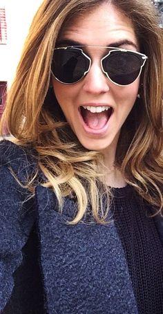 Chiara Ferragni with her Dior 'So Real' sunglasses