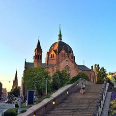 Trinity Church in Oslo city centre. #architecture #oslobilder #visitoslo #oslo #sunset #city #church by glenntonic