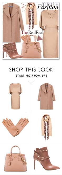 """Fall Style With The RealReal: Contest Entry"" by katyusha-kis ❤ liked on Polyvore featuring Gucci, Rochas, Burberry, Prada and Valentino"